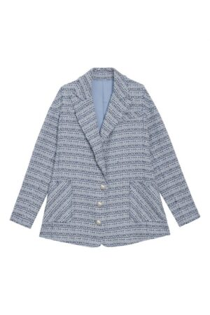 Tweed Pearl Button Coat