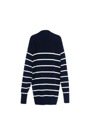 Contrast POLO Collar Knitted Cardigan