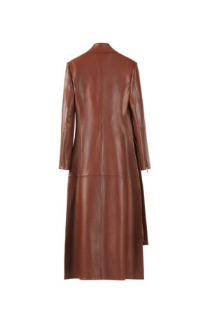 Long Collared Coat in Almond