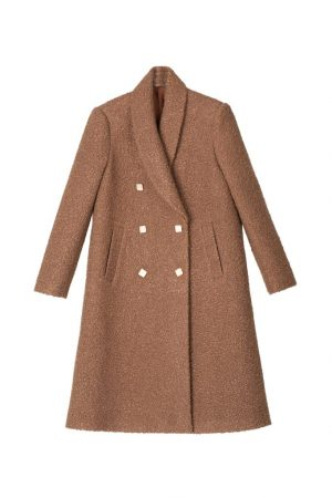 Double-row buckle coat