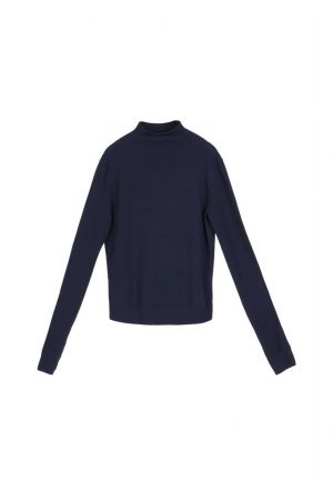 Simple Chimney Collar Sweater
