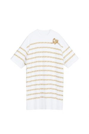 Metal Chain Print T-Shirt