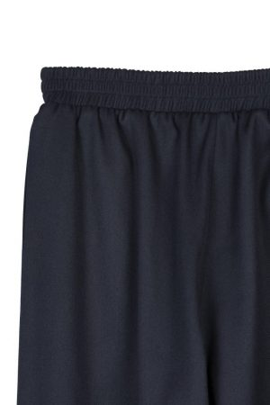 Dark Blue Loose-Rimmed Trousers