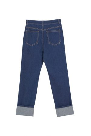 Flip Over Nine-Point Jeans