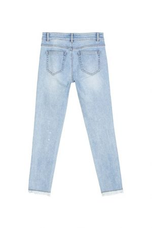 Hot Platinum Edge Cut-Out Jeans