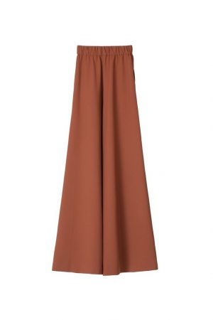 Rusty brown loose-waisted trousers