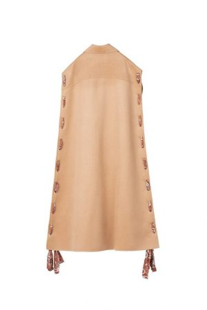 Camel Ribbon Long Coat