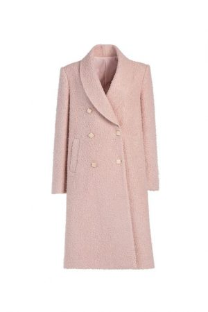 Double-Row Buckle Coat.