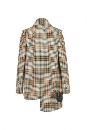 Plaid Museum Embroidered Jacket.