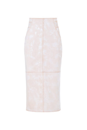 Floral Pink Dark Embossed Skirt