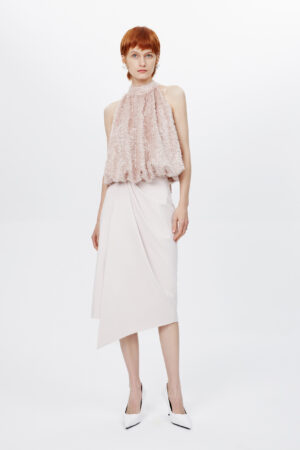 Irregular Pleated Hip Skirt