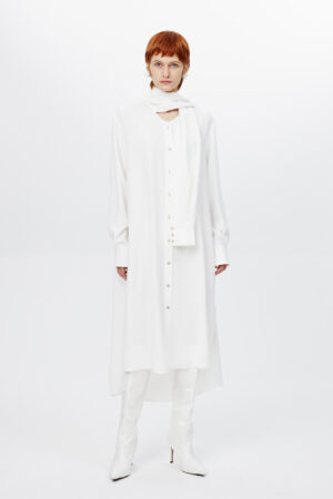 Long Shirt With Sleeve Collar
