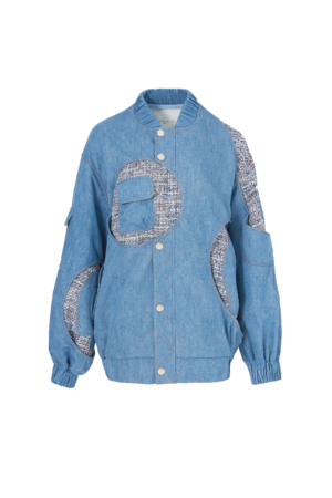 Irregular Patchwork Denim Jacket