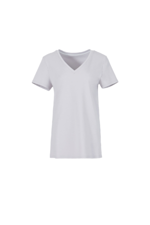 Basic V-Neck Knitted T-Shirt