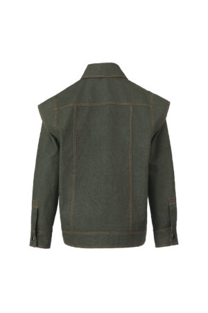 Imitation Denim Forest Green Jacket