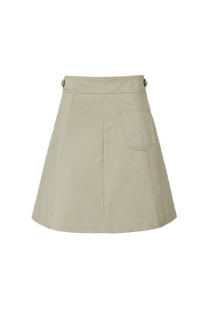 Jungle Green Metal Zippered Skirt