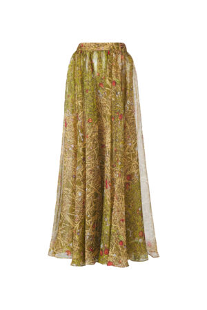 Original Printed Mulberry Silk Skirt