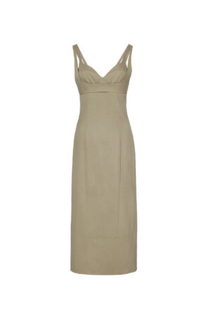 Khaki Slim Dress
