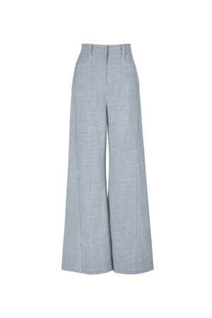 Tranquil Gray Mid-rise Wide-leg Pants