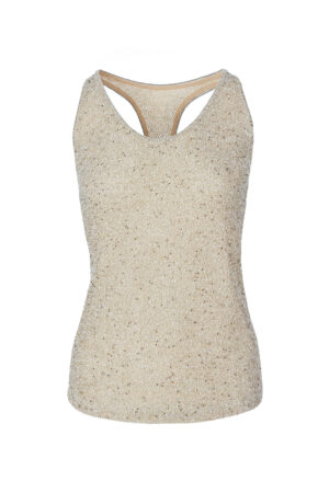 Original Colour Sleeveless Mesh Top