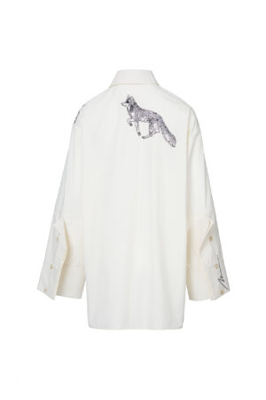 Bunny Embroidered Oversized Shirt