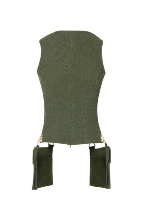 Jungle Green Pocket Top
