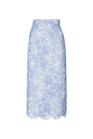 Lace Straight wrap hip skirt