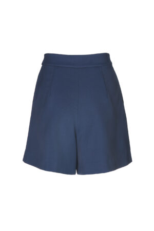 Classic Blue Mid-rise Shorts