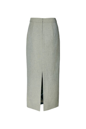 Jungle Green Patch Straight Skirt
